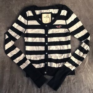 Stripped Hollister Sweater with Jewel Buttons